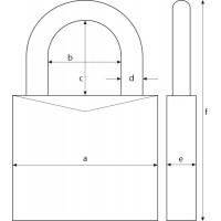 Koodiga ripplukk ABUS Marine 180IB/50