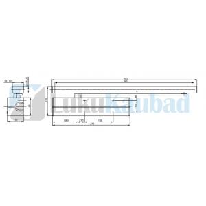 Cam-uksesulgur ASSA ABLOY DC700 BC 3-6 (hall, sobilik liugvarrega)