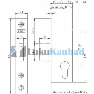 Kitsasprofiil lukukorpus NEMEF 9643/35 RST