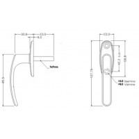 Aknalink kilbiga MIRA 1020 + poldid 5x35 2tk