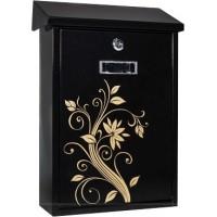 Postkast Arregui E5609 (must / kuldne lill)