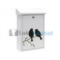 Postkast Arregui Premium E5601-BIR (valge, linnu pildiga)