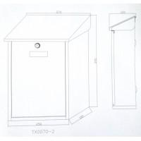 Postkast Pruun (RAL8017)