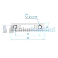 Lukuvastus klaasuksele ROCA RG-240 (harjatud roostevaba AISI304)