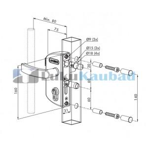 Jalgvärava lukk LOCINOX LAKZ4040P1L (Roheline, RAL6005)