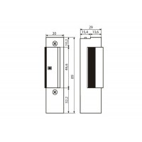 Elektriline piidavasturaud LOCKPOL 810 12VAC/DC