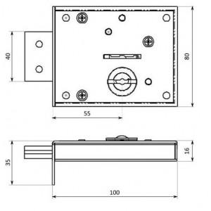 Lukukomplekt 1608Z ILGA-3 3 võtmega