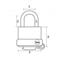 3 Yale tabalukku General Security GY220 (ühel võtmel)